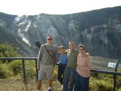 visiting the volcano in Turrialba - Easter 2003