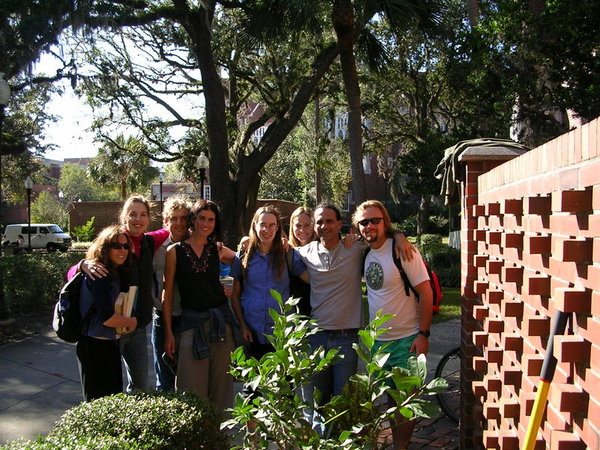 November 17, 2006: friends at the University of Florida gather to plant a lemon tree on the campus grounds